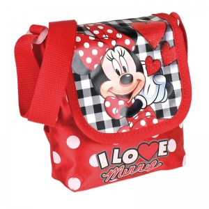 "bolso con solapa minnie mouse ""i love minnie"" :: imagen 1"