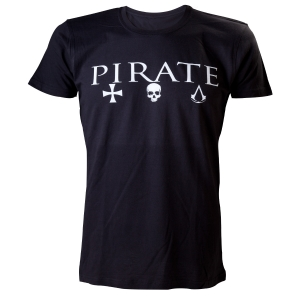 "camiseta assassin's creed iv - black flag ""pirate"" / Talla XL :: imagen 1"