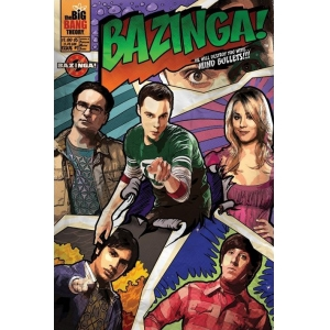 "póster the big bang theory ""comic bazinga"" :: imagen 1"