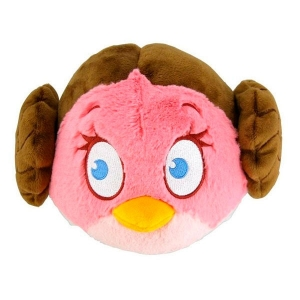 "peluche angry birds star wars ""leia"" / 13 cm :: imagen 1"