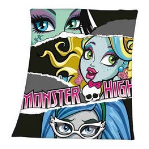 "manta polar monster high ""frankie stein, lagoona blue y ghoulia yelps"" :: imagen 1"
