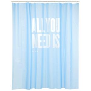 "cortina de baño ""all you need is..."""