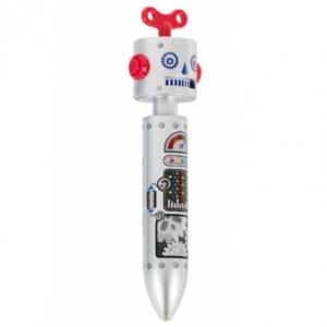 "bolígrafo ""robot"" / gris plata"