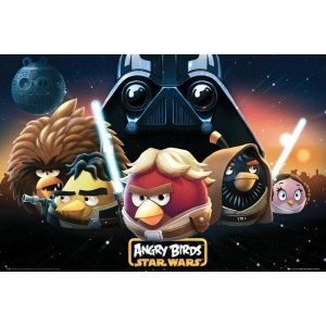 "póster angry birds star wars ""personajes"" :: imagen 1"