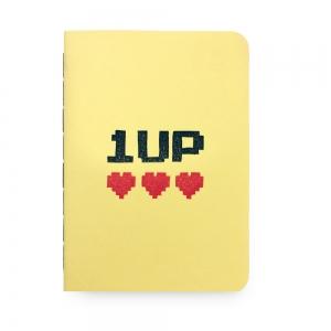 """cuaderno de tapa blanda (cosido visto) """"1up"""" hojas en blanco / amarillo limón / 10 x 14 cm"""