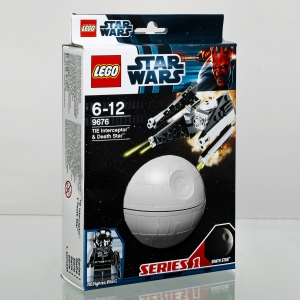 lego 9676 star wars - tie interceptor y death star :: imagen 1