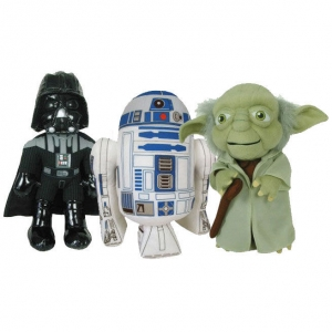 "pack de peluches star wars - ""r2-d2"", ""yoda"" y ""darth vader"" / 25 cm :: imagen 1"