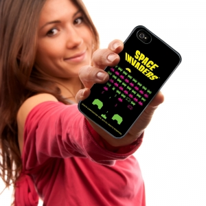 "funda para iphone 4 ""space invaders"" :: imagen 2"