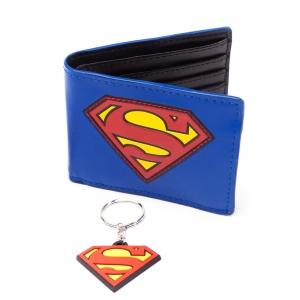 Deconexo set de billetera y llavero superman