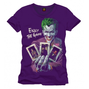 "camiseta batman ""enjoy the game"" / morado / Talla L :: imagen 1"