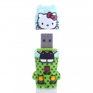 "memoria usb pendrive mimobot hello kitty ""fun in fields"" / 2GB :: imagen 2"