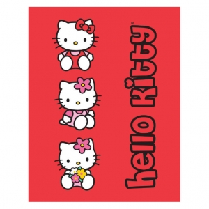 "manta polar hello kitty ""3 kitties"" :: imagen 1"
