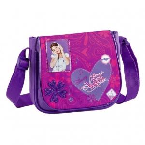 """bolso bandolera con solapa violetta """"corazón"""""""