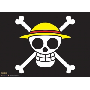 "póster de tela one piece ""the straw hat pirates flag"" :: imagen 1"