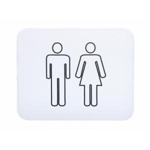 """alfombra para baño de neopreno """"man & woman"""" / blanco"""