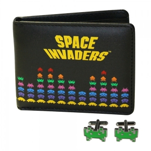 "set de billetera y gemelos ""space invaders"" :: imagen 1"