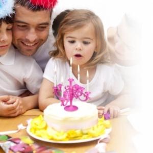 mini candelabro portavelas de cumpleaños