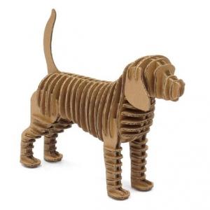 """perro de cartón para construir """"eco dog"""""""