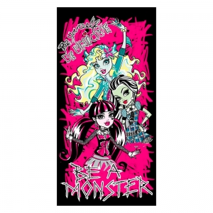 "toalla de playa monster high ""be a monster"" :: imagen 1"