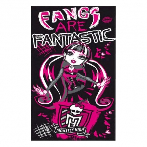 "toalla de playa monster high ""draculaura"" :: imagen 1"