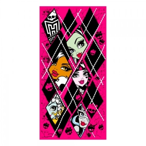"toalla de playa monster high ""rombos"" :: imagen 1"