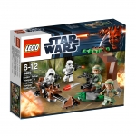 lego 9489 star wars - endor rebel trooper & imperial trooper battle pack